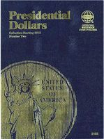 Whitman Presidential Dollars Collection Vol.II Starting 2012 Coin Folder Coin Collecting Book #2182