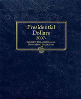 Whitman Presidential Dollars 2007 Complete Philadelphia & Denver Mint Collection Album