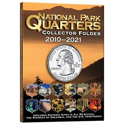 Whitman Publishing National Parks Quarters 2010-21 Collector Folder -- Coin Collecting Book and Supply -- #2883