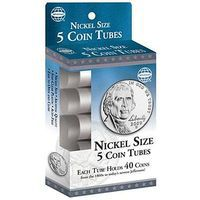 Whitman Nickle Size Coin Tubes (5 Pack) Coin Collecting Book and Supply #2895