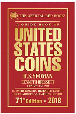 Whitman Publishing 2018 71st Edition Guide Book of United States Coins Red Book