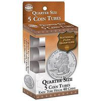 Whitman US Mint Quarter Coin Tubes Pack (5) Coin Collecting Book and Supply #90921690
