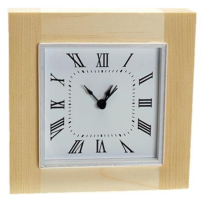 Walnut Hollow Sutton Square Clock with Bezel -- Clock Making Accessory -- #27639