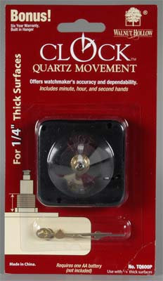 Walnut Hollow 1/4'' Clock Movements -- Clock Making Kit -- #tq600p