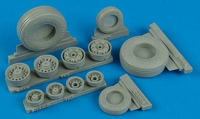 Wheelliant F14D Weighted Wheels for TSM -- Plastic Model Aircraft Accessory -- 1/32 Scale -- #132001