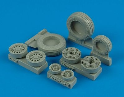 Wheelliant F16C/CJ Goodyear Weighted Wheels for TAM -- Plastic Model Aircraft Accessory -- 1/32 -- #132002