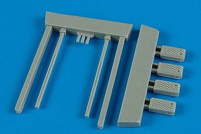 Wheelliant Navy Early NCW4/5 Wheel Chocks w/Fixed Bar -- Plastic Model Aircraft Accessory -- 1/48 -- #148003