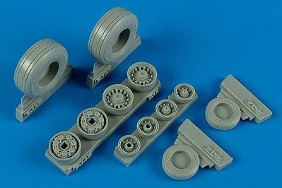 Wheelliant F14B/D Weighted Wheels for Hasegawa -- Plastic Model Aircraft Accessory -- 1/48 Scale -- #148005
