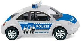 Wiking Emergency Volkswagen Beetle 1990s/2000s Police HO Scale Model Railroad Vehicle #10444