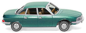 Wiking NSU Ro 80 Sedan Metallic Turquoise Assembled HO Scale Model Railroad Vehicle #12849