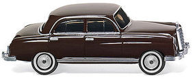 Wiking 1959-1965 Mercedes-Benz 220 S Sedan Dark Brown HO Scale Model Railroad Vehicle #14001