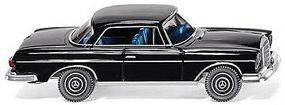 Wiking Mercedes-Benz 250 SE Coupe Assembled Black HO Scale Model Railroad Vehicle #14603