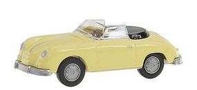Wiking Porsche 356 Convertible Yellow HO Scale Model Railroad Vehicle #16040
