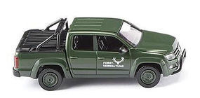 Wiking 2010 Volkswagen Amarok Crew-Cab Pickup w/Cap Assembled HO Scale Model Railroad Vehicle #31109