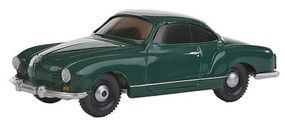 Wiking Volkswagen Karmann Ghia Coupe Assembled Green HO Scale Model Railroad Vehicle #3449