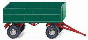 Wiking Agricultural Trailer Assembled Green HO Scale Model Railroad Vehicle #38839