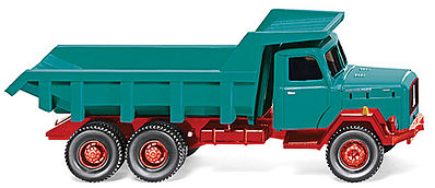 Wiking Magirus Saturn Dump Truck -- HO Scale Model Railroad Vehicle -- #67001