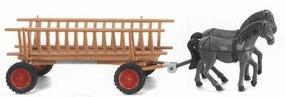 Wiking Horse-Drawn Wagons HO Scale Model Railroad Vehicle #89302