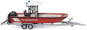 Wiking MZB72 (Lehmar) Multi-Purpose Boat with Roof & Trailer HO Scale Model Railroad Vehicle #9547