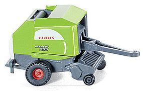 Wiking Machinery Round Hay Bailer Claas Rollant 355 Rotocut N Scale Model Railroad Vehicle #95902