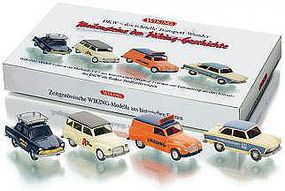 Wiking German Delivery Truck DKW 4-Pack HO Scale Model Railroad Vehicle #99076