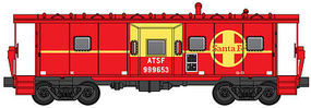 WalthersMainline International Bay Window Caboose Santa Fe #999653 HO Scale Model Train Freight Car #8658