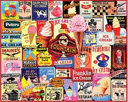 WhiteMount Ice Cream Logos Collage Puzzle (1000pc)