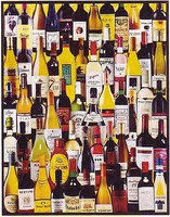 WhiteMount Wine Bottles Collage Puzzle (1000pc)