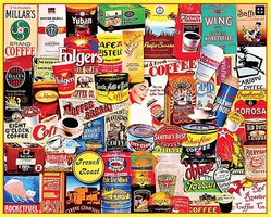 WhiteMount Coffee Brands Collage Puzzle (1000pc)