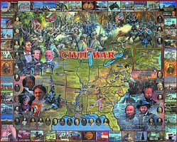 WhiteMount Civil War Historical Facts & People Collage Puzzle (1000pc)
