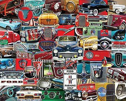 WhiteMount Classic Fords Interior/Exterior Parts Collage Puzzle (1000pc)
