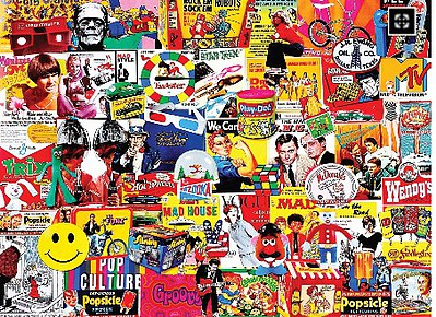 White Mountian Puzzles Pop Culture Collage Puzzle (1000pc)