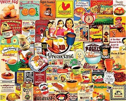 WhiteMount Breakfast Meals Collage Puzzle (1000pc)