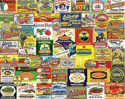 WhiteMount Vintage Food & Drink Collage Puzzle (1000pc)