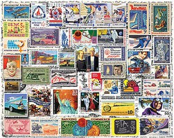 WhiteMount Classic Stamps Collage Puzzle (550pc)