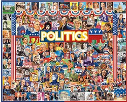 WhiteMount Politics (People) Collage Puzzle (1000pc)