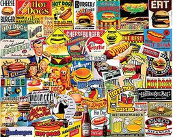 WhiteMount Burgers & Hot Dogs Collage Puzzle (1000pc)