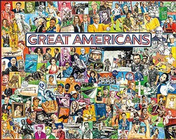 WhiteMount Great Americans (Legendary People) Collage Puzzle (1000pc)