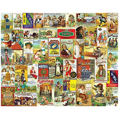 White Mountian Puzzles Antique Advertising 1000pcs