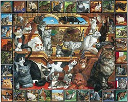 WhiteMount World of Cats Collage Puzzle (1000pc)