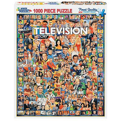 White Mountian Puzzles Television History 1000pcs -- Jigsaw Puzzle 600-1000 Piece -- #270pz