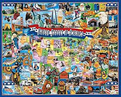 WhiteMount United States of America Historical Events Collage Puzzle (1000pc)