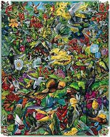 WhiteMount Hummingbirds Collage Puzzle (1000pc)