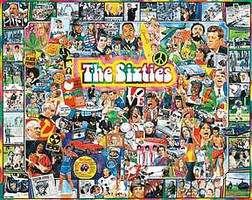 WhiteMount The 1960s Events & Famous People Collage Puzzle (1000pc)