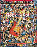WhiteMount Rock n Roll Artists from Last 50 Years Collage Puzzle (1000pc)