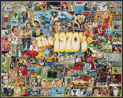 WhiteMount The 1970s Events & Famous People Collage Puzzle (1000pc)