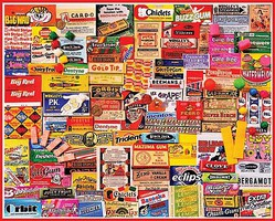 WhiteMount Gum Wrappers Collage Puzzle (1000pc)