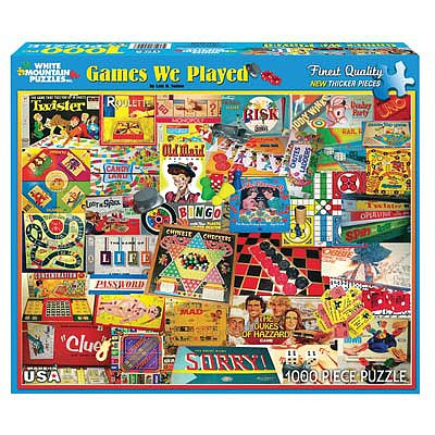 White Mountian Puzzles Games We Played 1000pcs -- Jigsaw Puzzle 600-1000 Piece -- #924pz