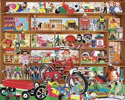 WhiteMount Vintage Toys Collage Puzzle (1000pc)