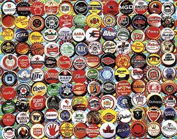 WhiteMount Beer Bottle Caps Collage Puzzle (550pc)